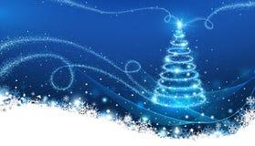 Árvore de Natal mágica ilustração royalty free