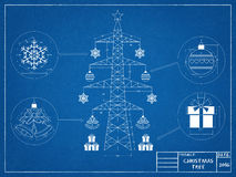 Árvore de Natal - modelo fotografia de stock royalty free