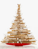 Árvore de Natal moderna isolada Imagens de Stock Royalty Free