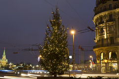 Árvore de Natal, Moscovo Fotografia de Stock