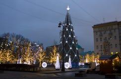 Árvore de Natal, Moscovo Foto de Stock Royalty Free