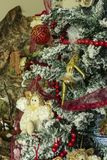 Árvore de Natal na casa imagem de stock royalty free