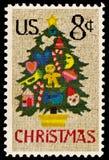 Árvore de Natal na edição do Needlepoint Fotografia de Stock