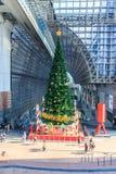 Árvore de Natal na estação de Kyoto Fotos de Stock Royalty Free