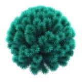 Árvore de Natal na forma de uma esfera fotografia de stock royalty free
