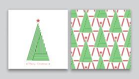 Árvore de Natal na linha arte 02 Ilustração Stock