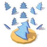 Árvore de Natal na neve Fotografia de Stock
