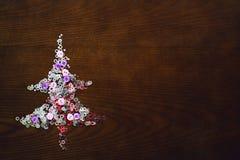 Árvore de Natal na tabela Imagens de Stock Royalty Free