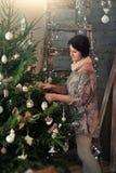 a árvore de Natal no bossage Fotografia de Stock Royalty Free