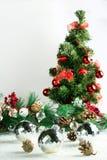 Árvore de Natal no branco Fotografia de Stock Royalty Free