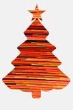 Árvore de Natal no branco Fotos de Stock Royalty Free