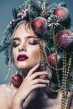 Árvore de Natal no penteado foto de stock
