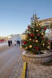 Árvore de Natal no quadrado da revolução em Moscou, Rússia Imagem de Stock Royalty Free
