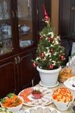 Árvore de Natal para a tabela festiva Imagens de Stock Royalty Free