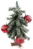 Árvore de Natal pequena com decoração Fotografia de Stock Royalty Free