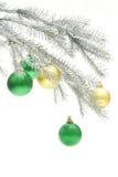 Árvore de Natal prateada Fotografia de Stock Royalty Free