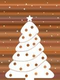 Árvore de Natal retro Imagens de Stock Royalty Free