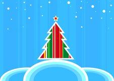 Árvore de Natal retro Fotos de Stock