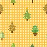 Árvore de Natal sem emenda do teste padrão Foto de Stock Royalty Free