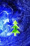 Árvore de Natal sob o gelo fotografia de stock royalty free