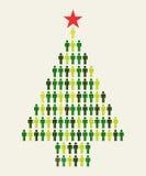Árvore de Natal social dos povos dos media Foto de Stock