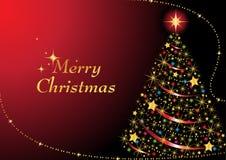 Árvore de Natal Sparkling ilustração do vetor