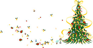 Árvore de Natal - verde Fotos de Stock