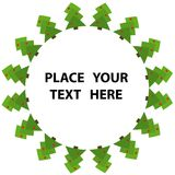 Árvore de Natal verde abstrata   Imagens de Stock Royalty Free
