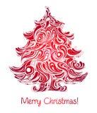 Árvore de Natal vermelha Foto de Stock Royalty Free