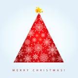Árvore de Natal vermelha Fotos de Stock Royalty Free
