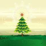 Árvore de Natal, vetor Fotografia de Stock Royalty Free