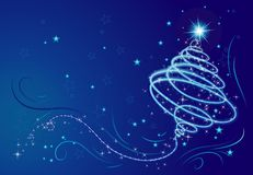 Árvore de Natal, vetor Imagens de Stock Royalty Free