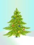 árvore de Novo-ano Fotografia de Stock