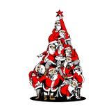 Árvore de Papai Noel com estrela do Natal ilustração royalty free