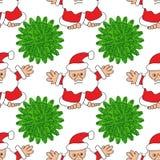 Árvore de Papai Noel e de Natal Fotos de Stock Royalty Free
