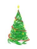 Árvore de pinho estilizado rendida do Natal Imagens de Stock Royalty Free