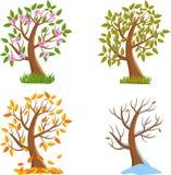 Árvore de quatro estações ilustração stock