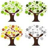 Árvore de quatro estações Foto de Stock