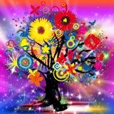 Árvore de vida feliz ilustração royalty free
