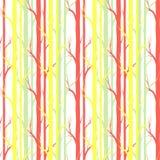 Árvore de vidoeiro Teste padrão sem emenda Vetor elemento para papéis de parede, fundo do fabricDesign da site, convite da festa  Fotografia de Stock