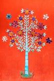 Árvore de vidro do mosaico da cor Fotografia de Stock Royalty Free