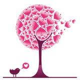 Árvore decorativa 1 do Valentim ilustração do vetor