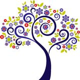 Árvore decorativa - 3 ilustração do vetor