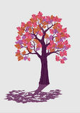 Árvore decorativa cor-de-rosa ilustração isolada do vetor Imagem de Stock