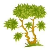 Árvore decorativa dos desenhos animados Fotografia de Stock