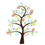 Árvore decorativa Funky Imagem de Stock