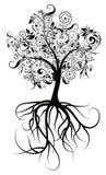 Árvore decorativa, ilustração do vetor Foto de Stock Royalty Free
