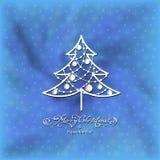 Árvore decorativa preta Fotos de Stock Royalty Free
