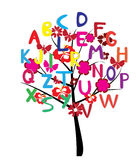 Árvore do alfabeto Foto de Stock