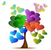 Árvore do amor ilustração stock